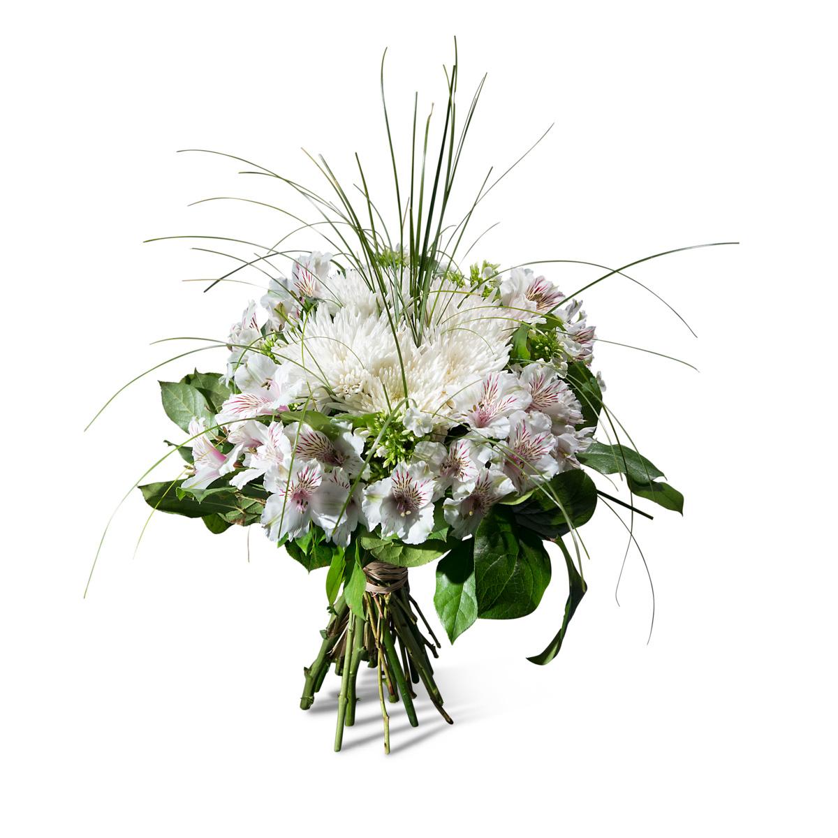 Ramo de Condolencias en tonos blancos - Ramo Blanco - Env?o de Flores a Domicilio