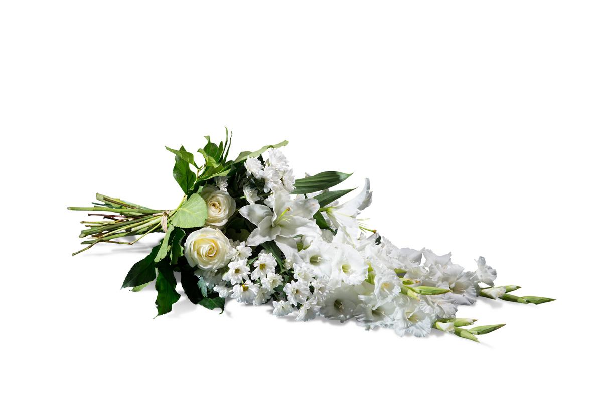 Ramo horizontal en tonos blancos - Env?o de Flores a Domicilio
