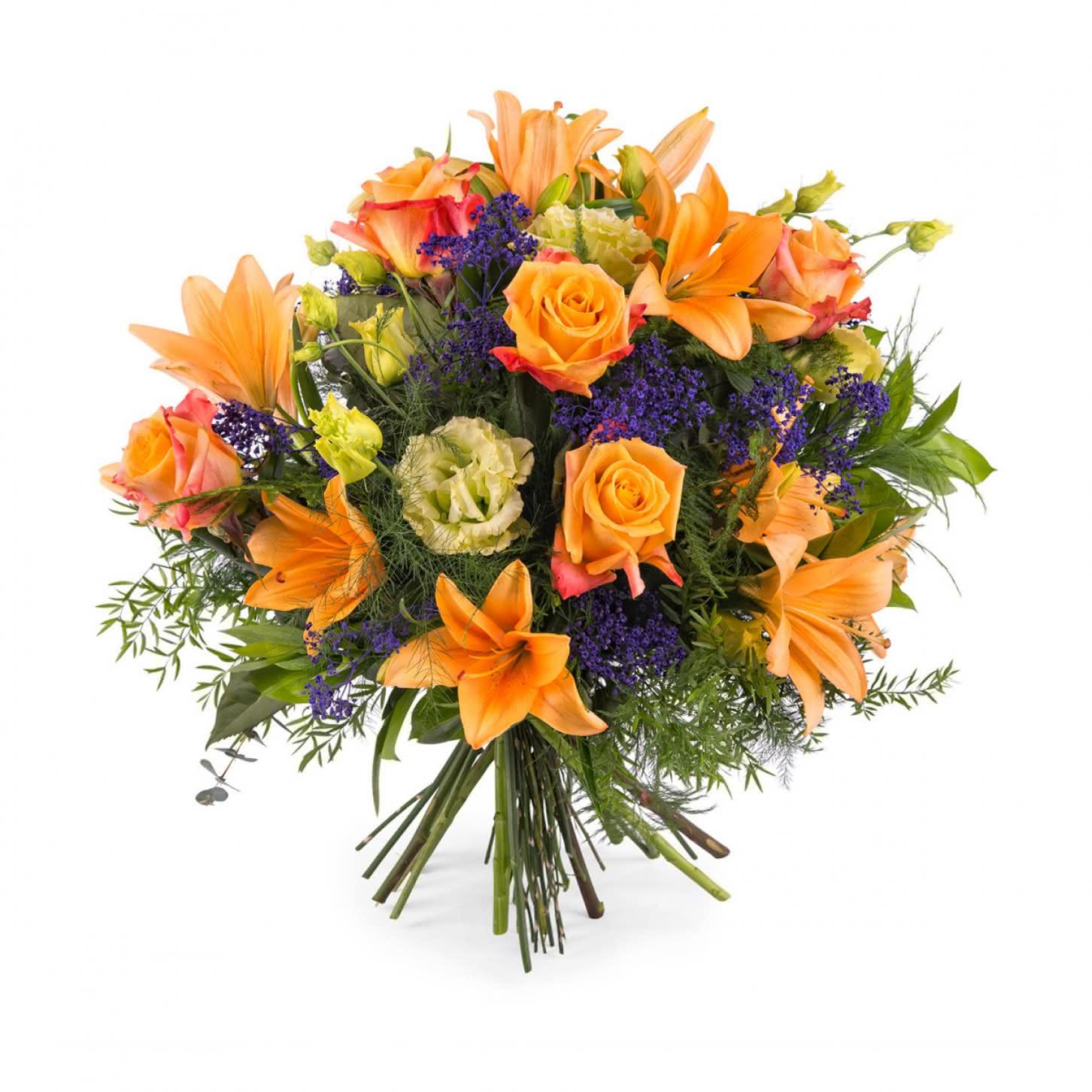atlntico ramo especial con rosas naranjas - Imagenes De Ramos De Flores