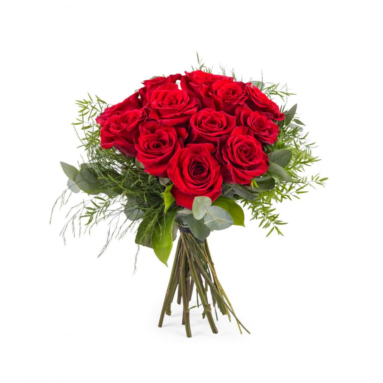 deseo rosas rojas de tallo corto