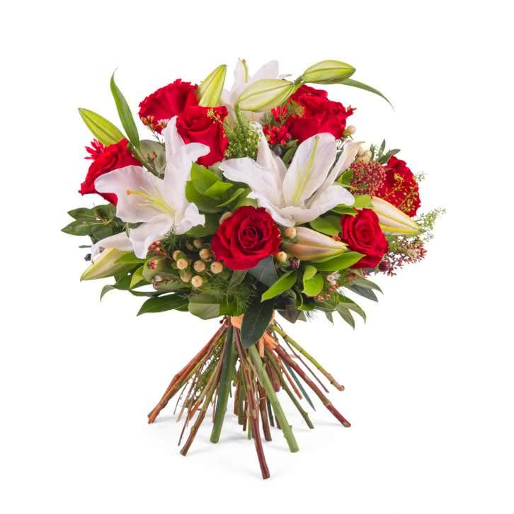 Maldivas, Arreglo de rosas con Liliums