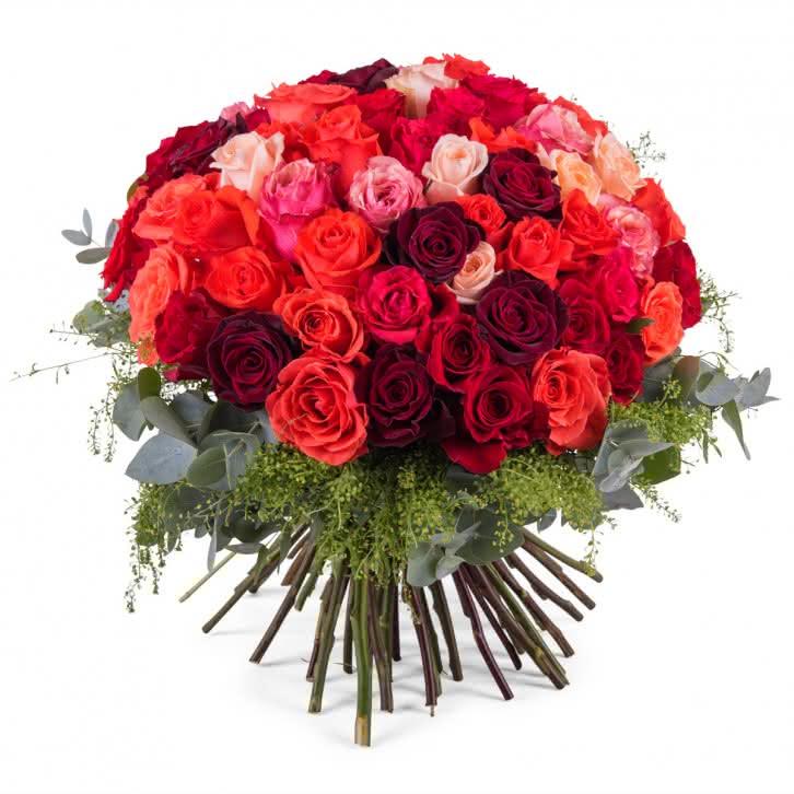 Gran Ramo Derroche, 60 Rosas Multicolor