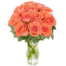 "Bunch of Orange Roses ""Bliss"" (without vase), Bunch of Orange Roses"