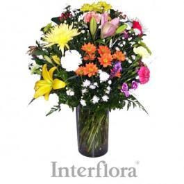 Arreglo de flores cortadas  (glass vase included), AO#G09 Arreglo de flores cortadas  (glass vase included)