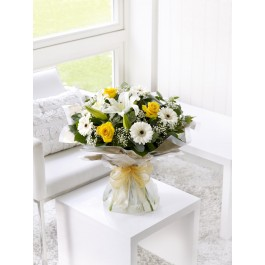 Yellow and white hand-tied, Yellow and white hand-tied