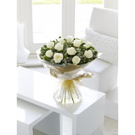 White Rose Hand-tied, White Rose Hand-tied