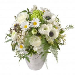 Romantic Spring Bouquet with teddy bear (white), Romantic Spring Bouquet with teddy bear (white)