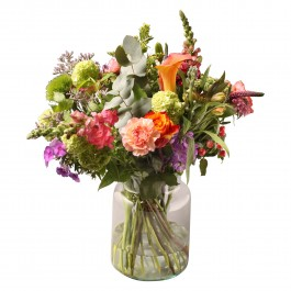 Ecological bouquet with vase, Ecological bouquet with vase