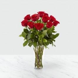 12 rosas de tallo large, BR#12RL 12 rosas de tallo large