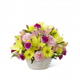 Basket of Cheer Bouquet - Basket included, BS#C13-4840 Basket of Cheer Bouquet - Basket included