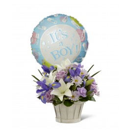 Boys Are Best! Bouquet - Basket included, BS#D7-4903 Boys Are Best! Bouquet - Basket included
