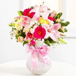 Surprise Bouquet in Pink Colours, BY#EE341 Surprise Bouquet in Pink Colours