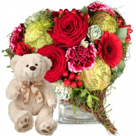 Only for You, with teddy bear (white), Only for You, with teddy bear (white)