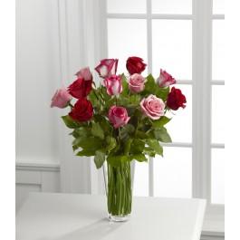 The True Romance™ Rose Bouquet by FTD® - VASE INCLUDED, The True Romance™ Rose Bouquet by FTD® - VASE INCLUDED