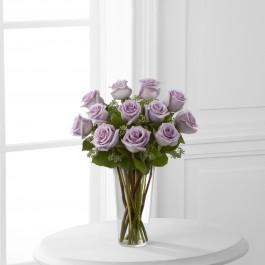 The Lavender Rose Bouquet by FTD® - VASE INCLUDED, The Lavender Rose Bouquet by FTD® - VASE INCLUDED
