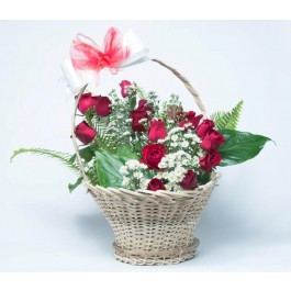 Red rose basket, Red rose basket