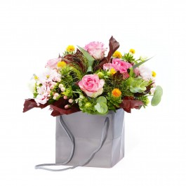 Arrangement Of Roses And Tender Eustomas, Arrangement Of Roses And Tender Eustomas