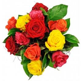 Affection - 12 Mixed Roses, Affection - 12 Mixed Roses