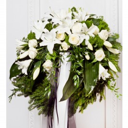 Wreath With Ribbon, EE#EE804 Wreath With Ribbon