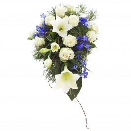The sky is blue and white - funeral decoration, The sky is blue and white - funeral decoration