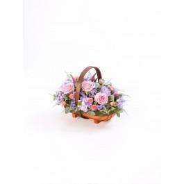 Mixed Basket  Pink and Lilac, GB#500453.Mixed Basket  Pink and Lilac