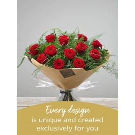 12 RED ROSE HAND-TIED, 12 RED ROSE HAND-TIED