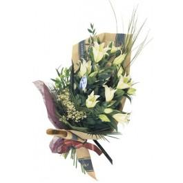 Corte el ramo de las flores con lirio casablanca, GR#16101 Corte el ramo de las flores con lirio casablanca