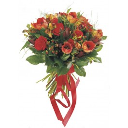 Ramo de flores de temporada (rojo), GR#16202 Ramo de flores de temporada (rojo)