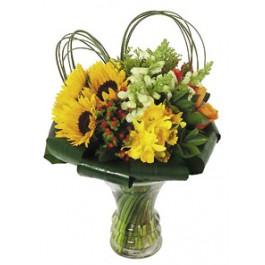 Bouquet in glass vase, GR#16221 Bouquet in glass vase