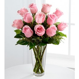 The Long Stem Pink Rose Bouquet by FTD® - VASE INCLUDED, The Long Stem Pink Rose Bouquet by FTD® - VASE INCLUDED