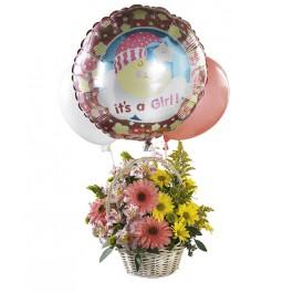 ¡Ramo con globos - para una niña!, GT#FTD406 ¡Ramo con globos - para una niña!