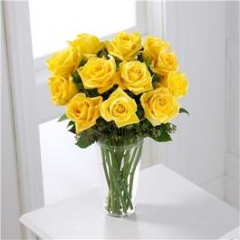 Ramo de rosas de color amarillo, GT#S32-4307 Ramo de rosas de color amarillo