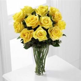 Ramo de rosas de color amarillo, GT#S38-4307 Ramo de rosas de color amarillo