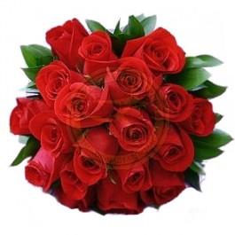 12 rosas de tallo corto, HU#12RS 12 rosas de tallo corto