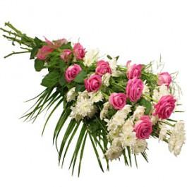 Ramo funerario con cinta, HU#FLBR Ramo funerario con cinta