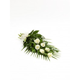 Simple Rose Sheaf  White, IE#500441 Simple Rose Sheaf  White
