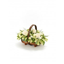 Mixed Basket - White, IE#500454 Mixed Basket - White