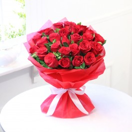 RADIANT RED ROSE BOUQUET, RADIANT RED ROSE BOUQUET