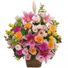 Large arrangement of multicolored flowers, Large arrangement of multicolored flowers