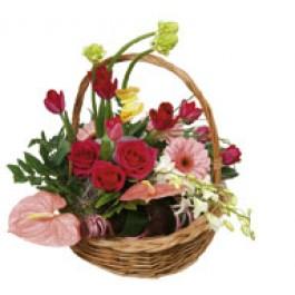 "Basket Arrangement ""Rendezvous"", KZ#3304 Basket Arrangement"