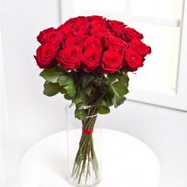 25 rosas de tallo corto, LT#25RS 25 rosas de tallo corto