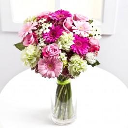 Romantic bouquet in pastel colours, LT#EE304 Romantic bouquet in pastel colours