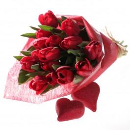 Ramo de Tulipanes rojas, LV#580 Ramo de Tulipanes rojas