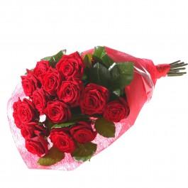 Ramo de 15 rosas rojas, LV#581 Ramo de 15 rosas rojas