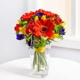 Mixed bouquet in bright colours, LV#EE317 Mixed bouquet in bright colours