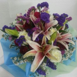 Funeral/Sympathy Bouquet in mixed colours, Funeral/Sympathy Bouquet in mixed colours