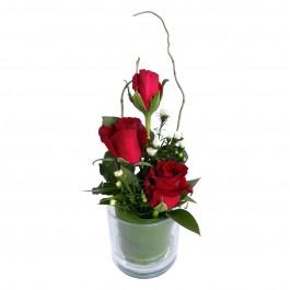 Three Rose Glass Red, Three Rose Glass Red