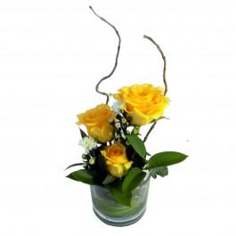 Three Rose Glass Yellow, Three Rose Glass Yellow