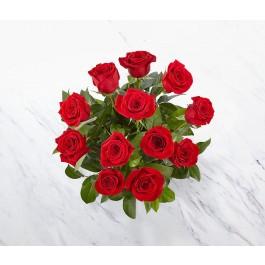 12 rosas de tallo corto, MX#12RS 12 rosas de tallo corto