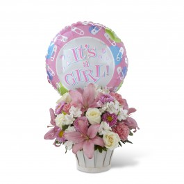 Girls Are Great! Bouquet - Basket Included, MX#D7-4904 Girls Are Great! Bouquet - Basket Included